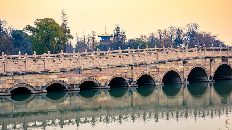 Long bridge stock photography