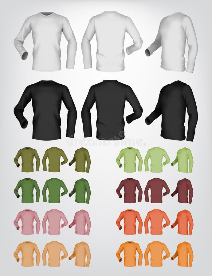 Long calibre de T-shirt de blanc de douille illustration libre de droits