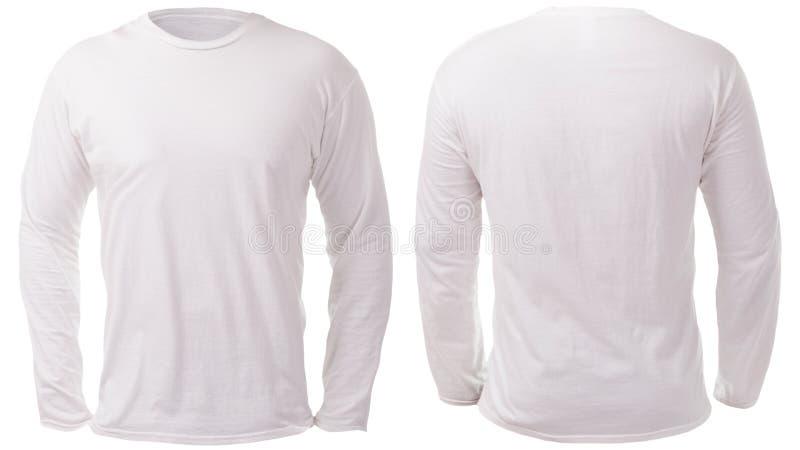 Long calibre gainé blanc de conception de chemise photos libres de droits