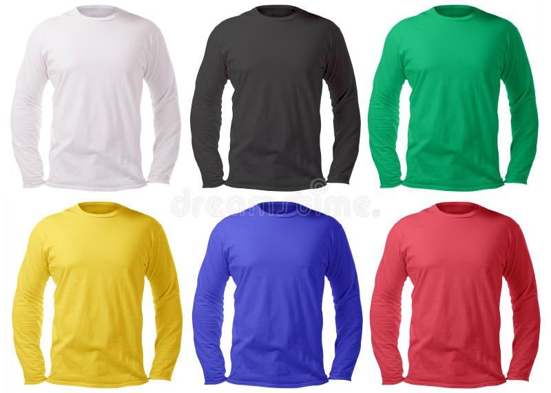 Long calibre gainé de conception de chemise dans les beaucoup couleur image libre de droits
