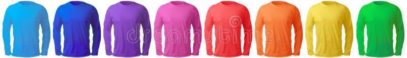 Long calibre gainé de conception de chemise dans les beaucoup couleur photos libres de droits