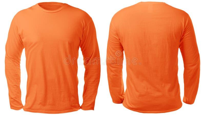 Long calibre gain? orange de conception de chemise photo libre de droits