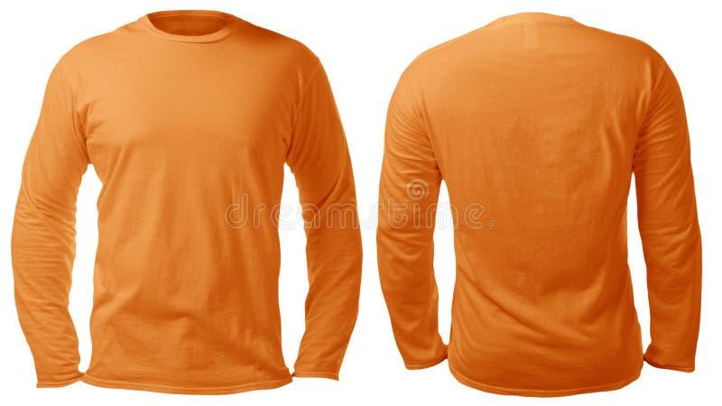 Long calibre gain? orange de conception de chemise image libre de droits