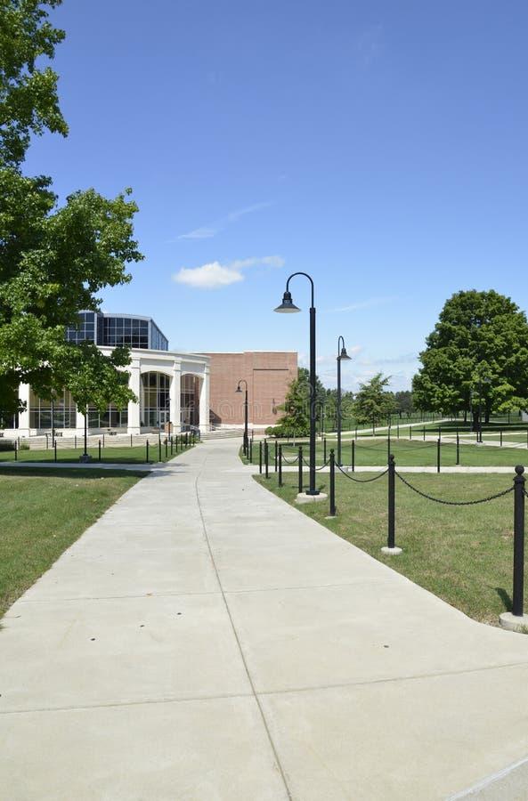 Long cement sidewalk