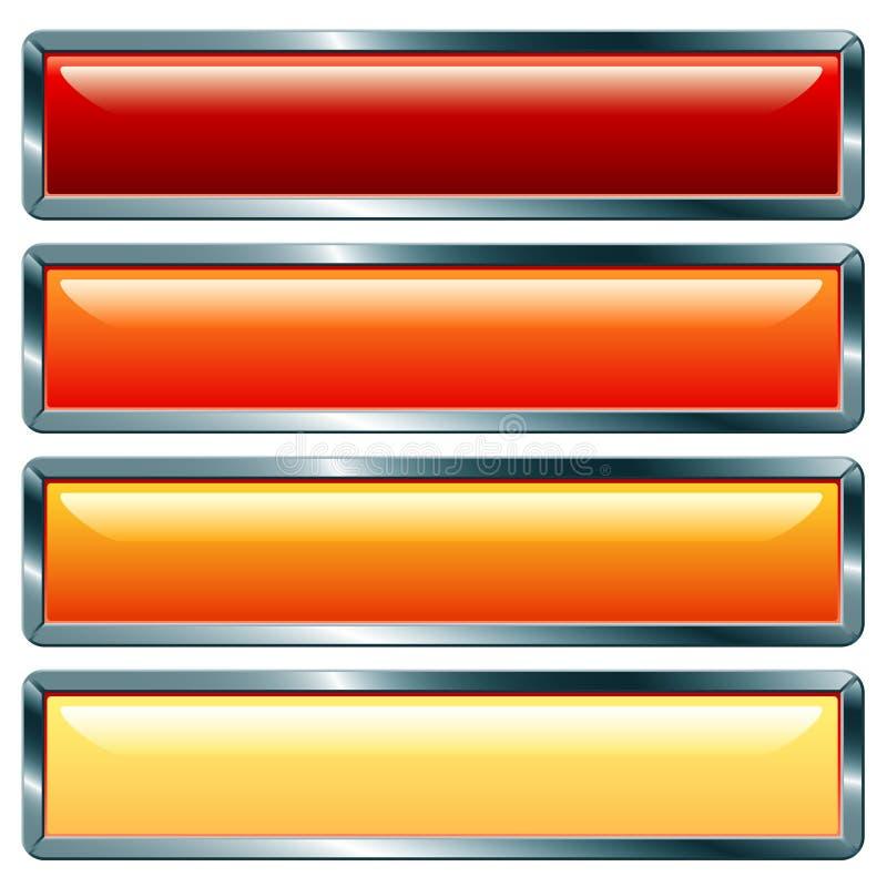 Long chaud métallique illustration stock