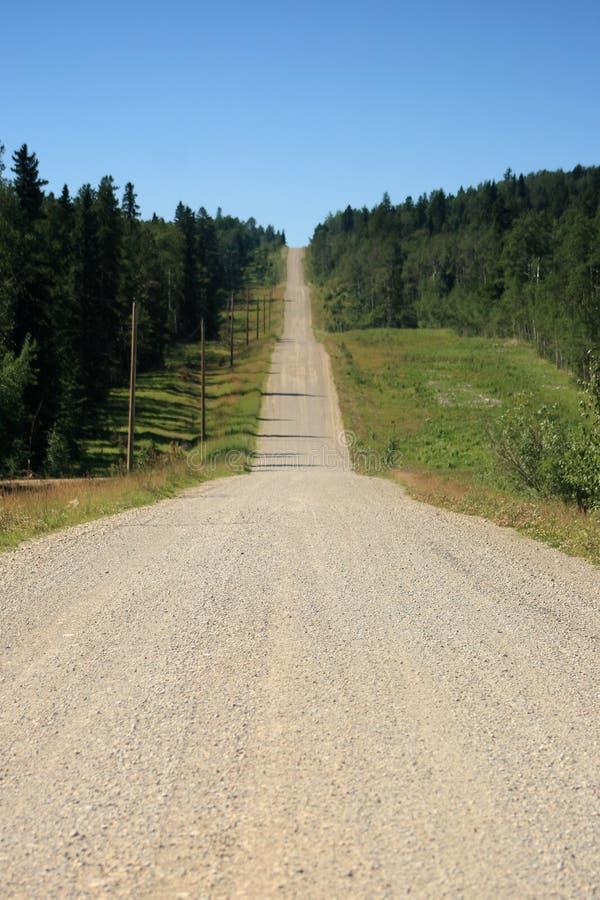 long chemin image libre de droits