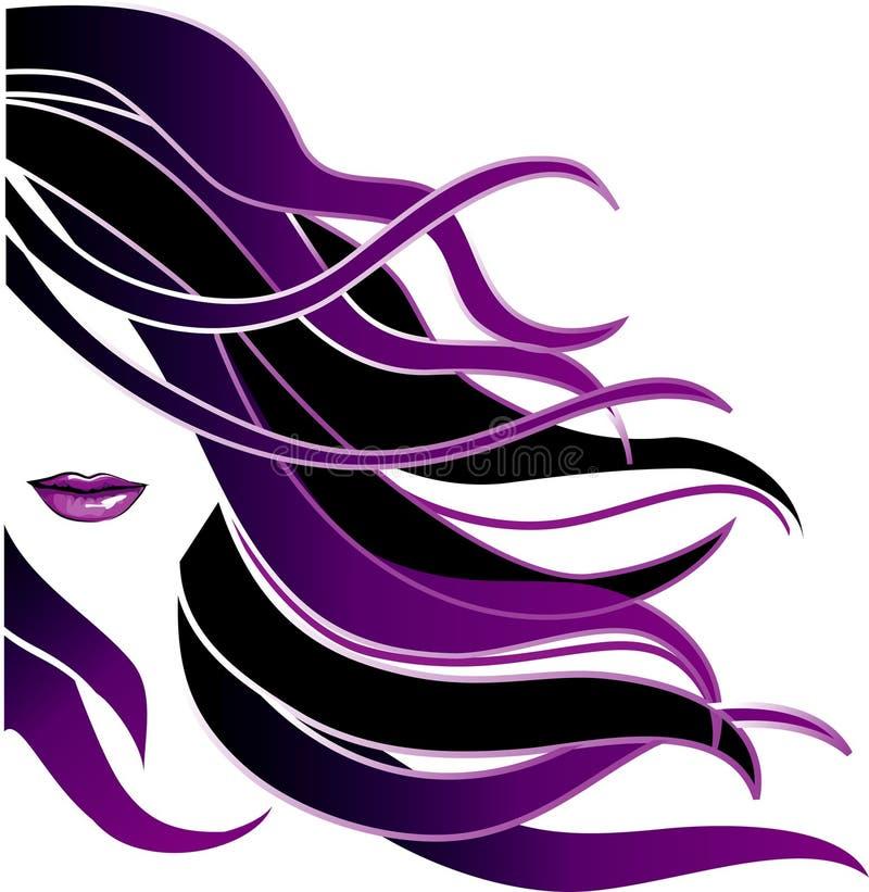 Long cheveu illustration stock