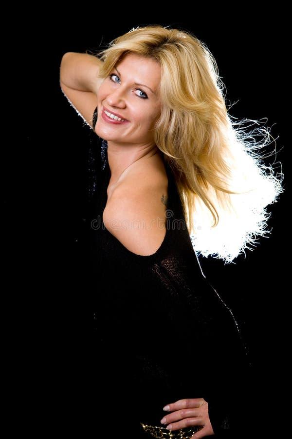 Long cheveu blond images stock