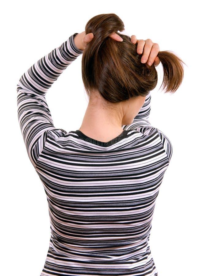 Long cheveu femelle image libre de droits