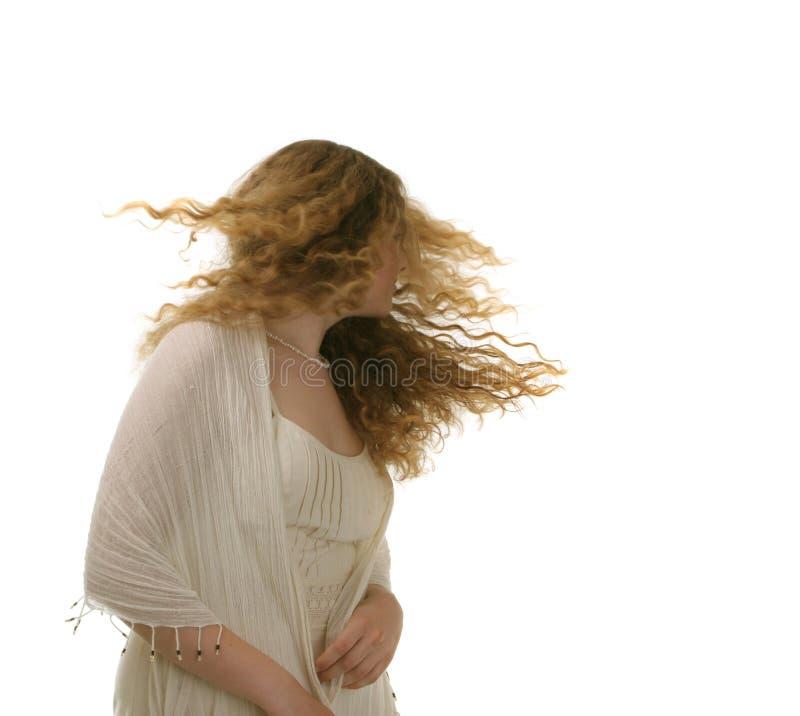 Long cheveu - jeune fille image libre de droits