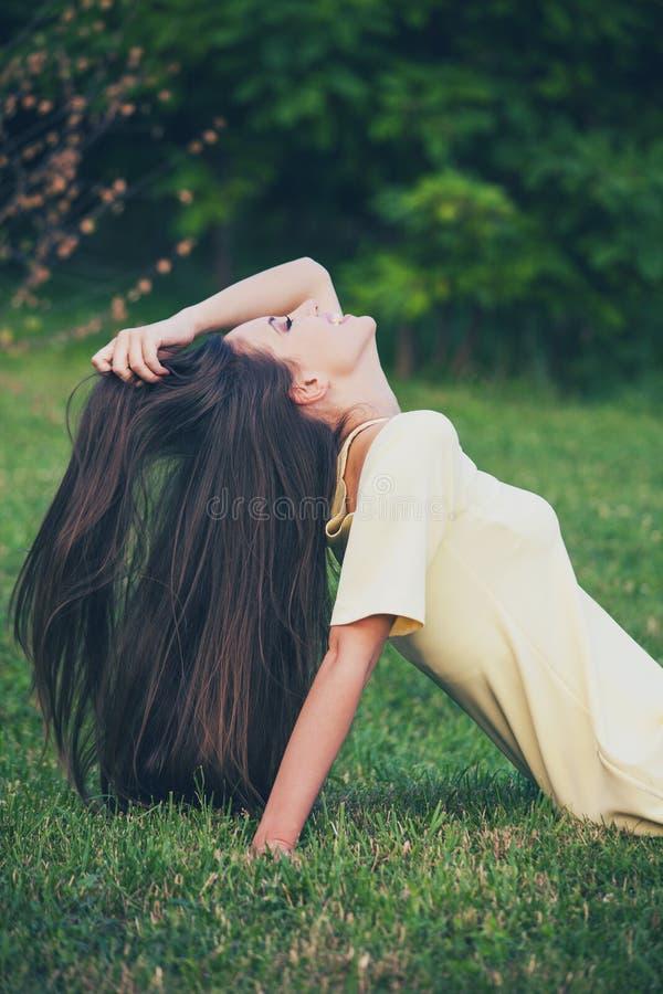 Long cheveu sain photos stock