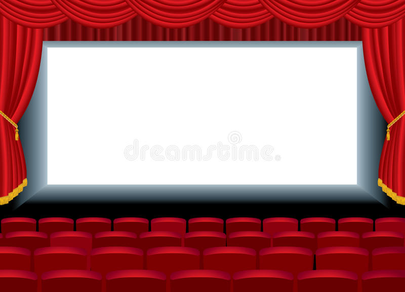 Download Long cinema stock vector. Image of entrance, screen, performance - 17470778