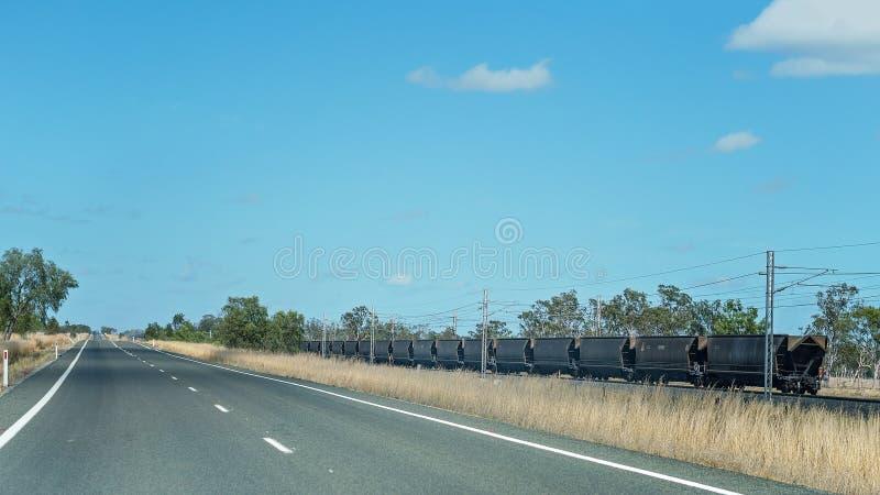 Long Coal Train In Australia royalty free stock images