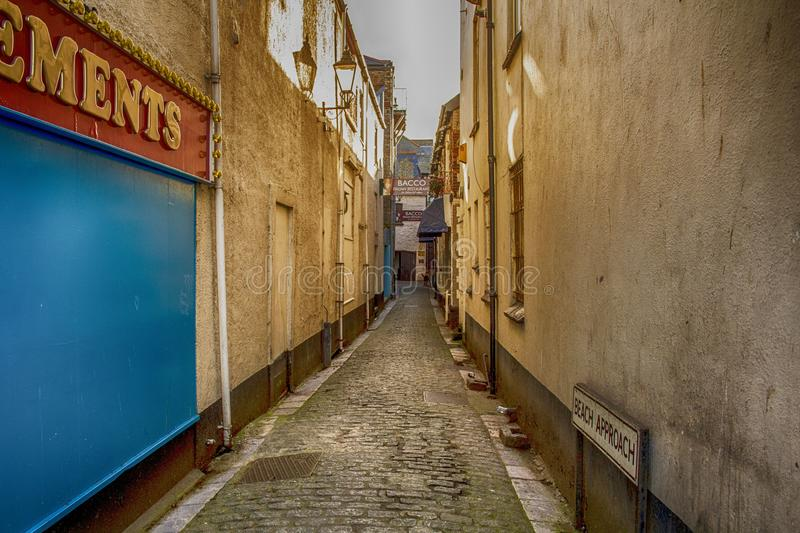 Long Cobbled Alley royalty free stock photos
