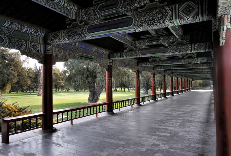 Download Long corridor stock photo. Image of china, culture, style - 18632276