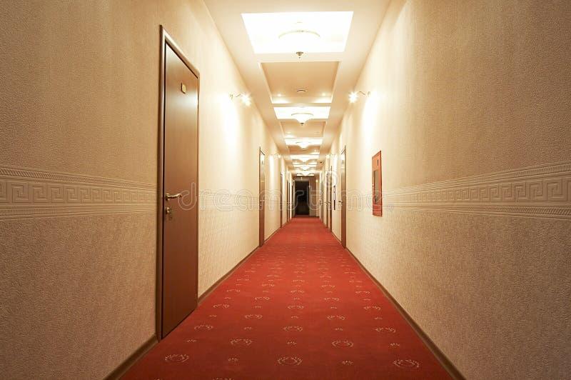 Long corridor stock image