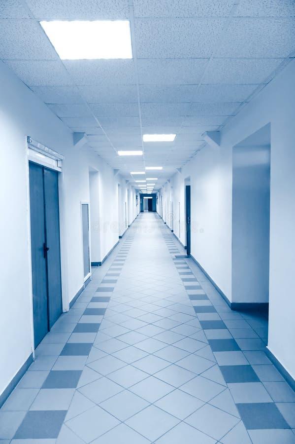 Long Corridor In Scientific Laboratory Stock Photography
