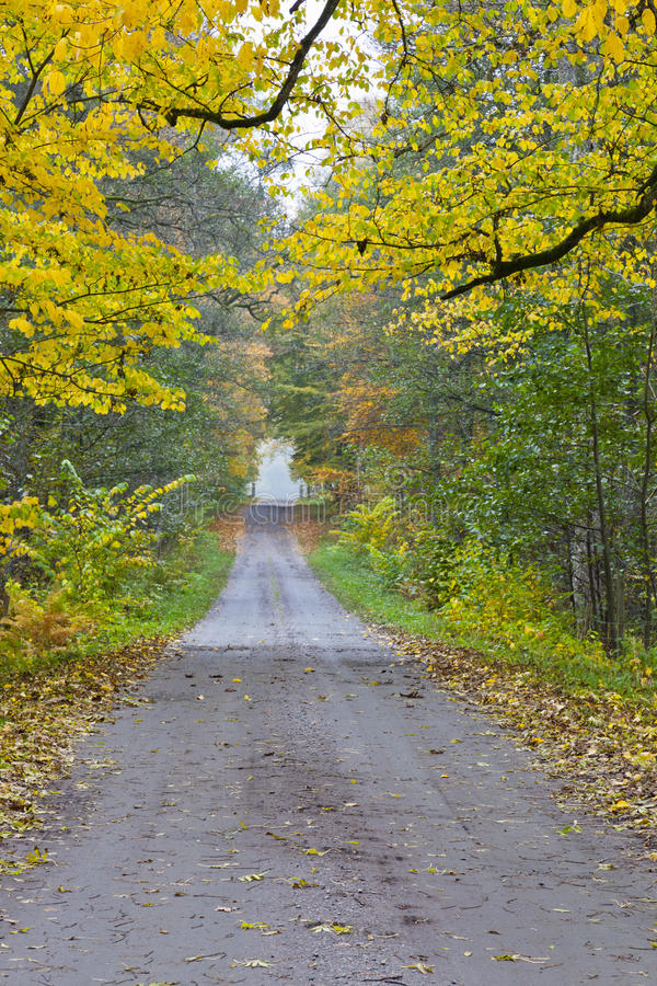Long countryside road stock photography