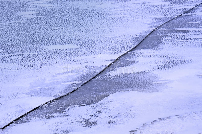 Download Long Crack On The Ice Stock Photography - Image: 20106832