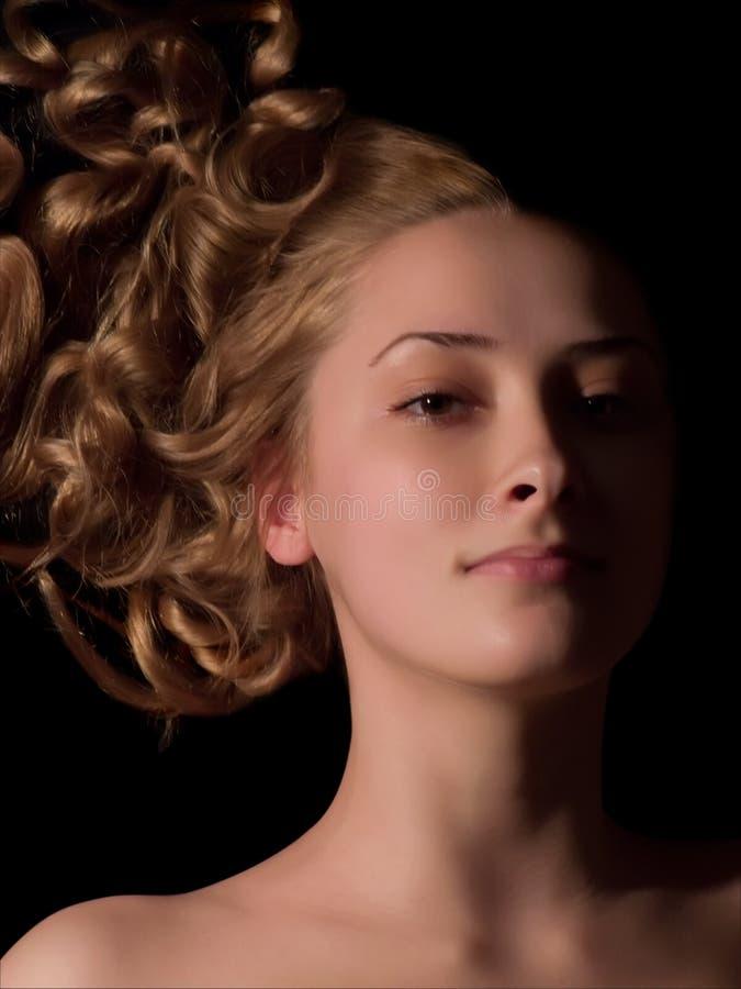 long d'une chevelure de fille photographie stock libre de droits