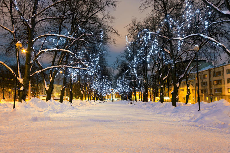 Download Long Decorated Alley In Tallinn, Estonia Stock Photo - Image: 17838306