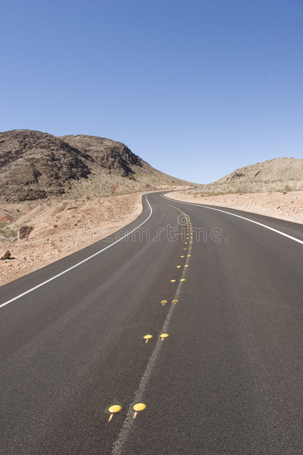 Download Long desert road stock photo. Image of desert, curve, asphalt - 3485138