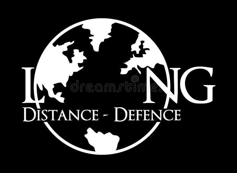 Long distance long defense stock illustration