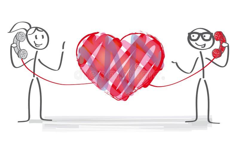 Long distance relationship. Illustration vector illustration