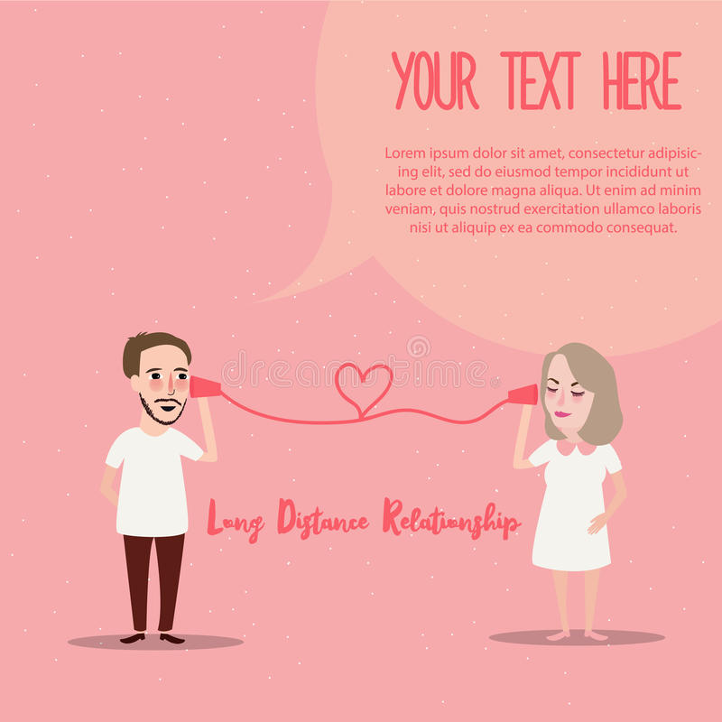Long distance relationship LDR phone couple in love romance stock image