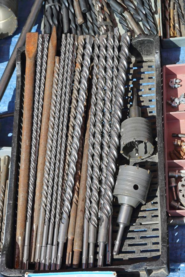 Long Drill Bits royalty free stock images