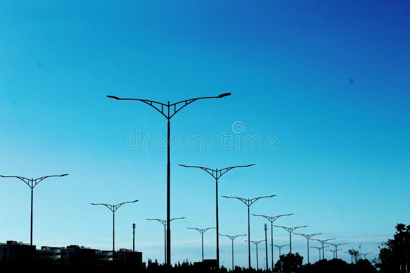 Long drives. Outside the city royalty free stock photography