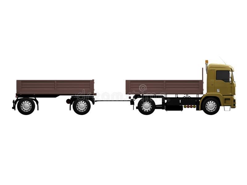 Download Long Dump Truck On White Background Stock Illustration - Illustration of clean, large: 4463409