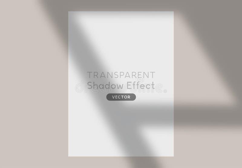 Long effet de châssis de fenêtre d'ombre illustration libre de droits