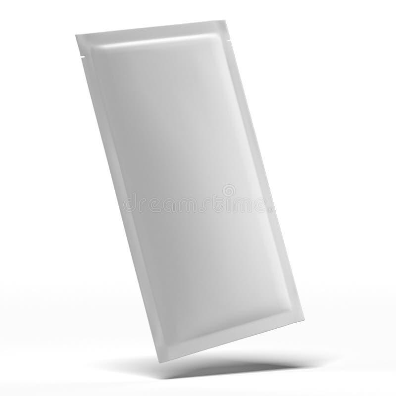 Long emballage vide blanc d'aluminium illustration libre de droits