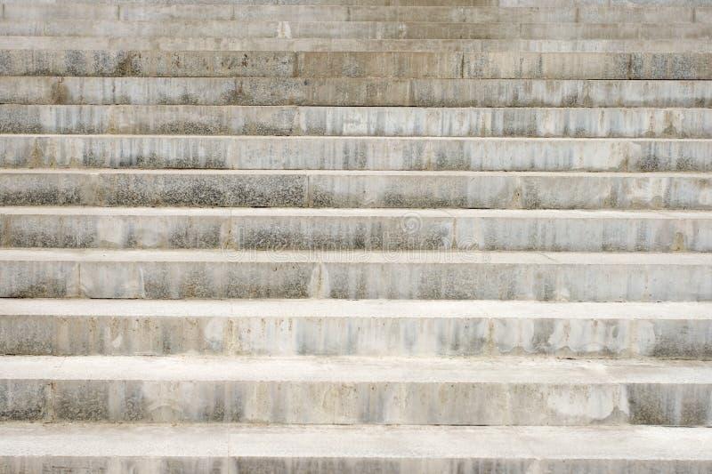 Long escalier concret image stock