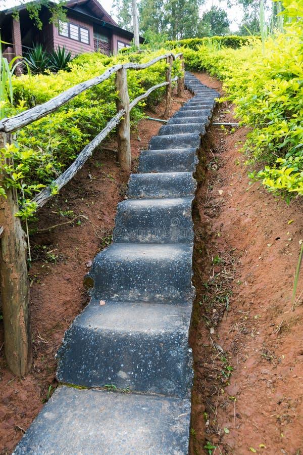 Long escalier concret photo libre de droits