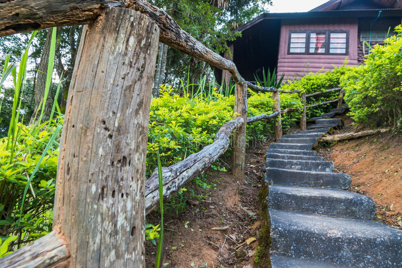 Long escalier concret photos libres de droits