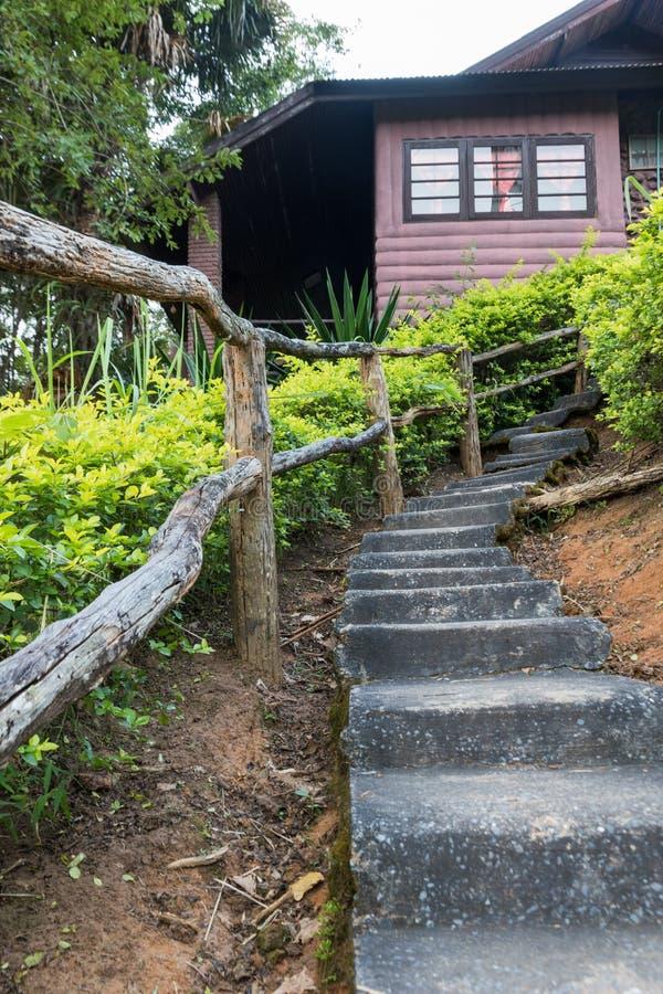 Long escalier concret images stock