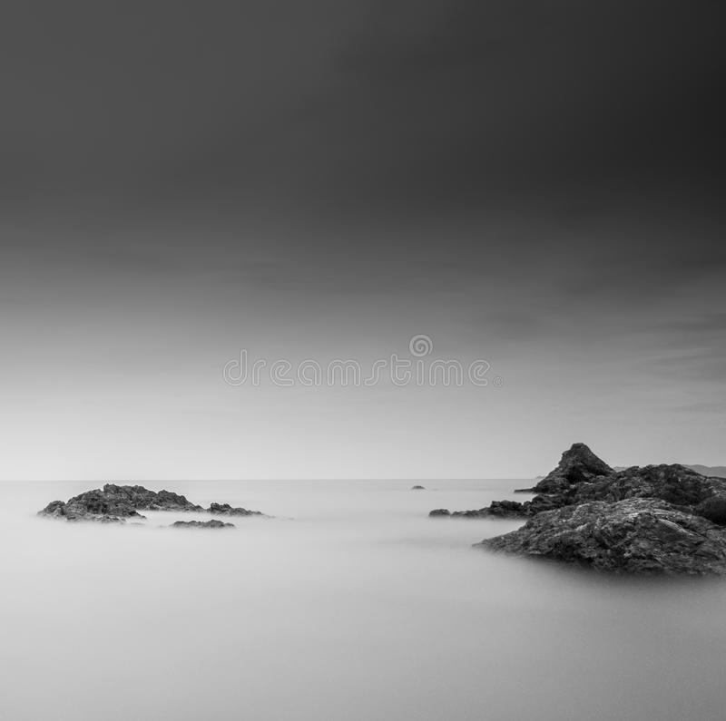 Long Exposure at the beach royalty free stock image