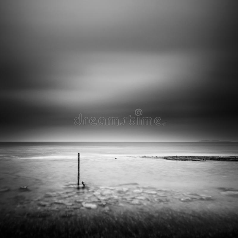 Minimal seascape from the beach royalty free stock photography