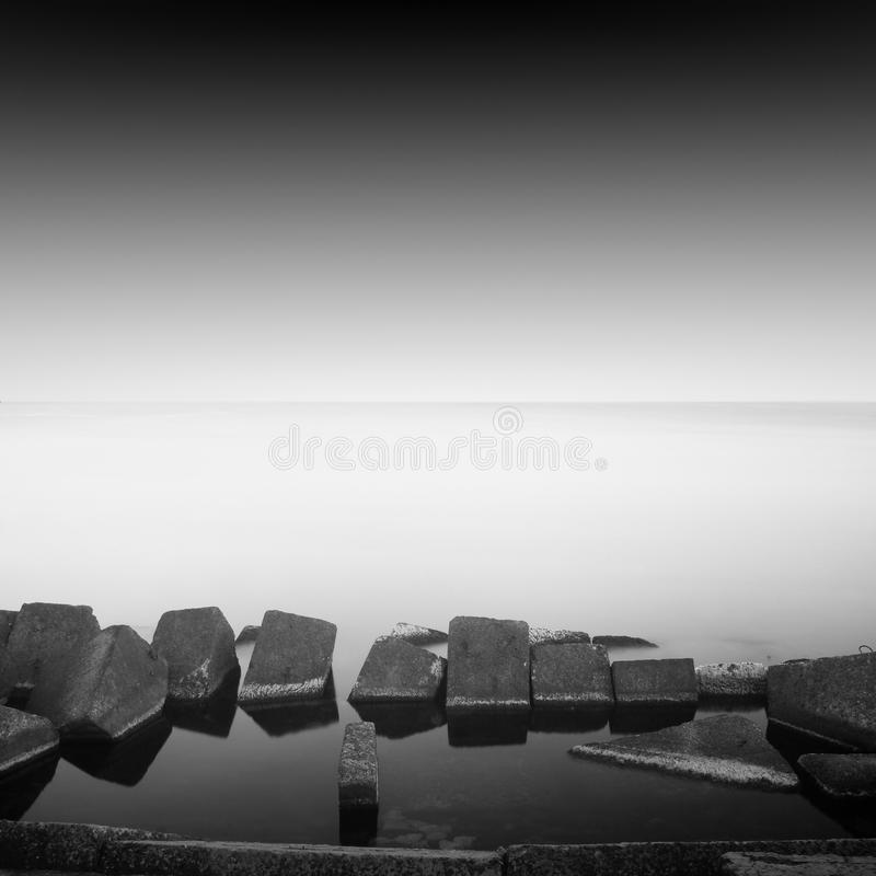 Long exposure breakwater royalty free stock images