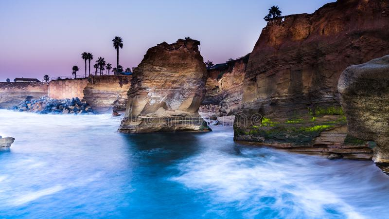 Sunset Cliffs, san Diego, California. royalty free stock photo