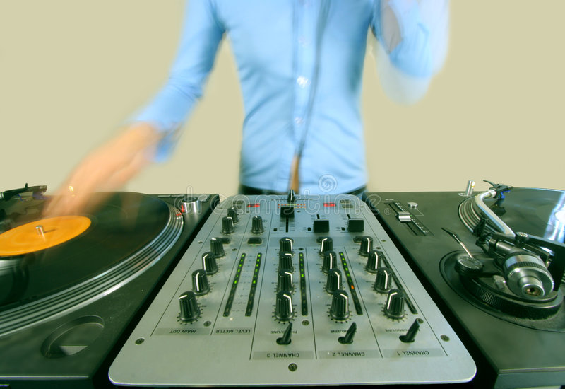 Download Long Exposure Of Funky Female Dj Stock Photos - Image: 505393