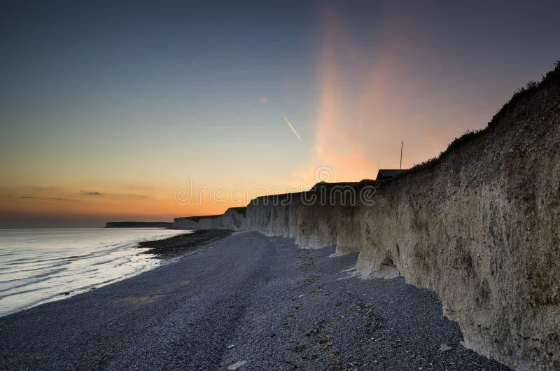 Download Long Exposure Landscape Rocky Shoreline At Sunset Stock Photos - Image: 31964453