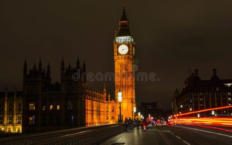 Bog Ben at night, long exposure stock photography