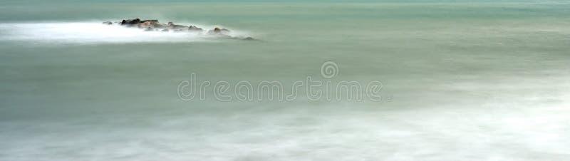 Long exposure of meditteranean sea. In la mspezia gulf stock images