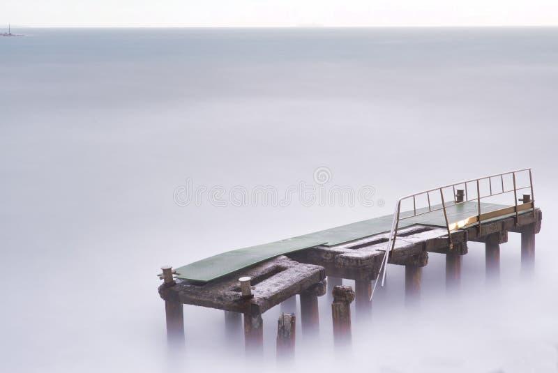 Long exposure of meditteranean sea. In la mspezia gulf royalty free stock photo