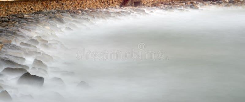 Long exposure of meditteranean sea. In la mspezia gulf stock photos