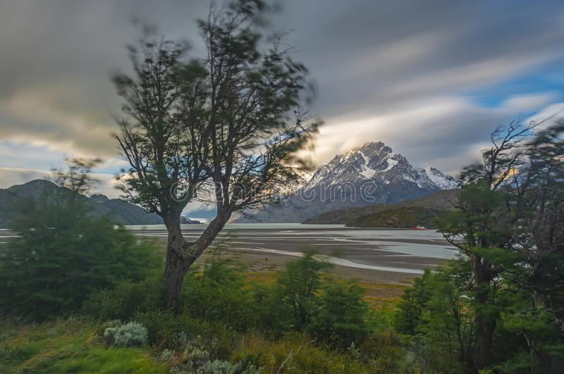Winds of Patagonia, Torres del Paine, Chile royalty free stock photos