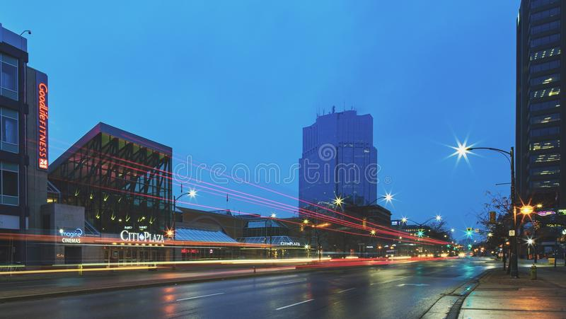 Long-exposure Photography of Highway During Evening royalty free stock images